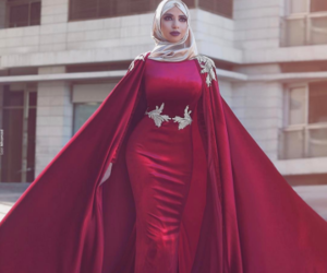 dress, musim, and red m prom image