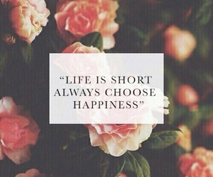 happiness, life, and flowers image