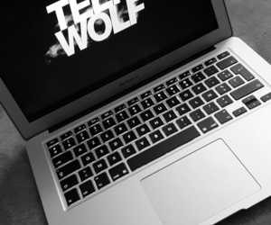 macbook, wolf, and stiles stilinsky image