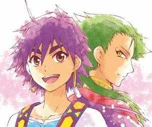 Sinbad, drakon, and magi image