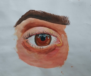 art, lashes, and Oil Painting image
