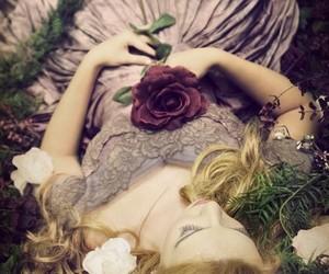 rose, flowers, and princess image