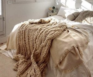 bed, brown, and bedroom image