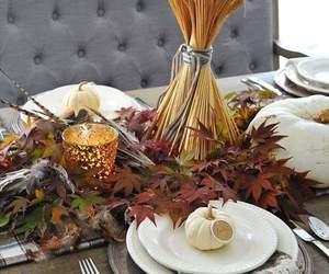 centerpiece, home decor, and fall decor image
