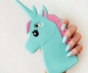 unicorn, iphone, and blue image