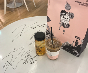 drink, exo, and pink image