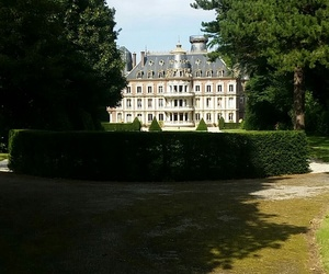castle, france, and garden image