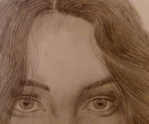 art, face, and pencil image