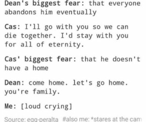 crying, dean, and family image