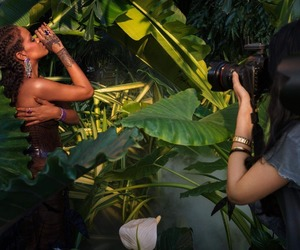 behind the scenes, rihanna, and chopard jewelry image