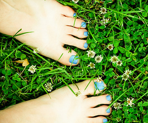 feet, grass, and nail image