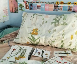 flowers, aesthetic, and bedroom image