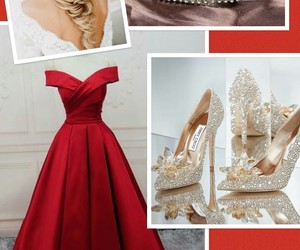 crown, high heels, and red image