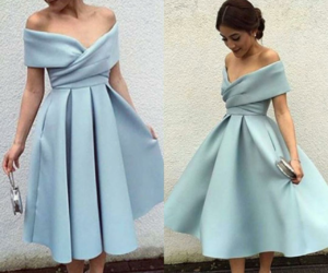 blue, chic, and dress image