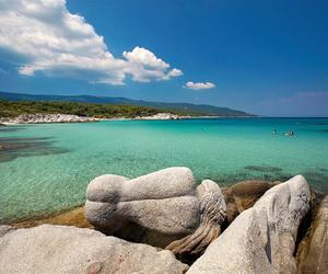 beach, summer, and chalkidiki image