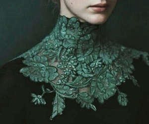 green, slytherin, and dress image