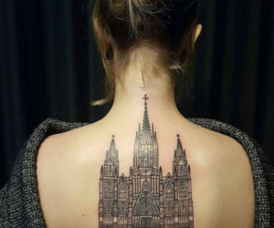 architecture, back, and tattoo image