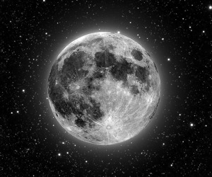black and white, moon, and space image