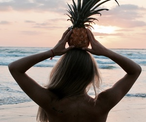 Hot, sea, and pineapple image
