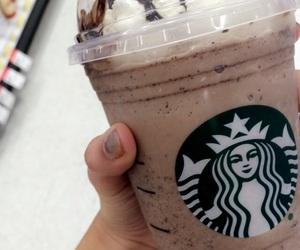 chocolate, frappaccino, and starbucks image