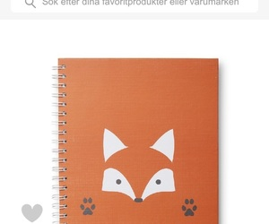 art, notebook, and fox image