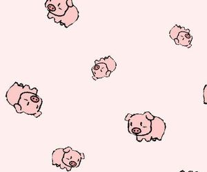 pastel, pigs, and pink image