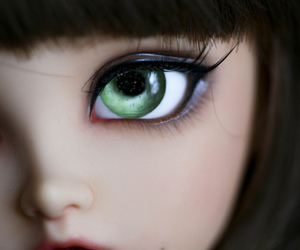 beautiful, eyes, and doll image