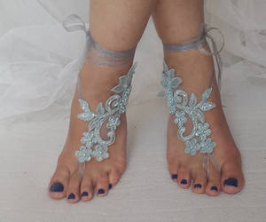 2153e7ee138d 44 images about beach wedding barefoot sandals on We Heart It