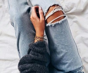 accessories, jeans, and lovely image