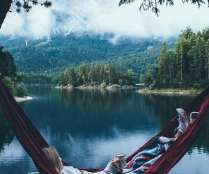 lake, nature, and relax image