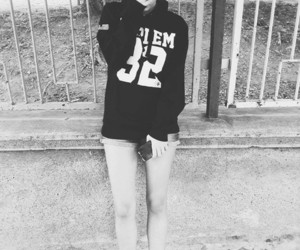 black and white, hoodie, and do it like a dude image