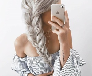 braid, hair, and beautiful image
