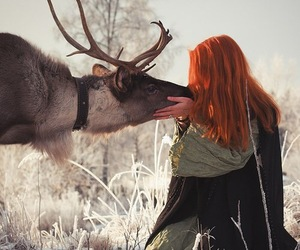 animals, girl, and nature image