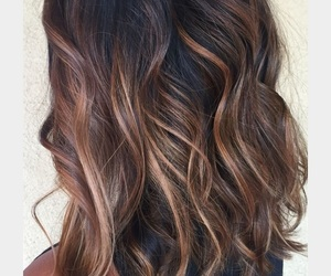 black hair ombre, ombre, and carmel highlight image