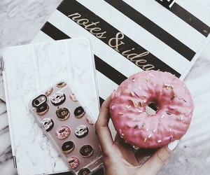 donuts, iphone, and food image