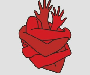 heart, art, and red image