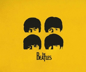 the beatles, music, and yellow image