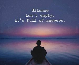quotes, silence, and answer image