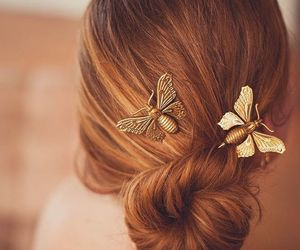 hair and butterfly image