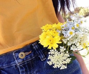 flowers, yellow, and indie image
