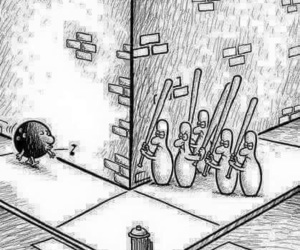 funny, bowling, and lol image
