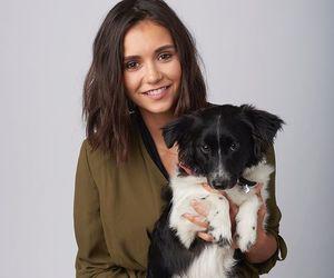 Nina Dobrev, dog, and the vampire diaries image