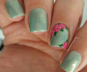 art, fleur, and ongles image