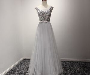 a-line, evening dress, and long dresses image