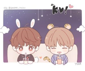 fanart, bts, and vkook image