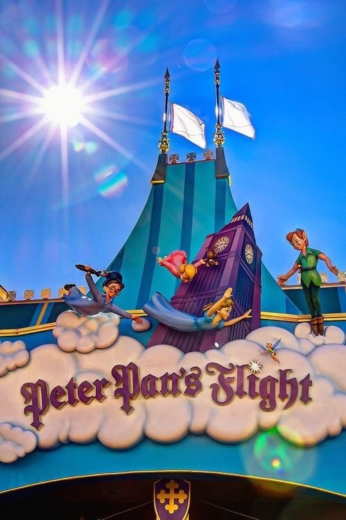 disney, disney world, and peter pan image