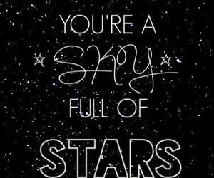 coldplay, stars, and sky image