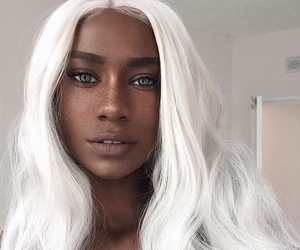 hair, beauty, and white hair image