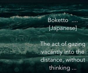 japanese, staring, and ocean image
