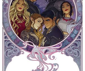 feyre, cassian, and rhysand image